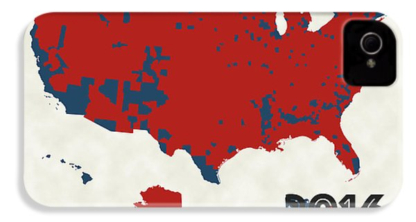 2016 Election Results IPhone 4 / 4s Case by Finlay McNevin