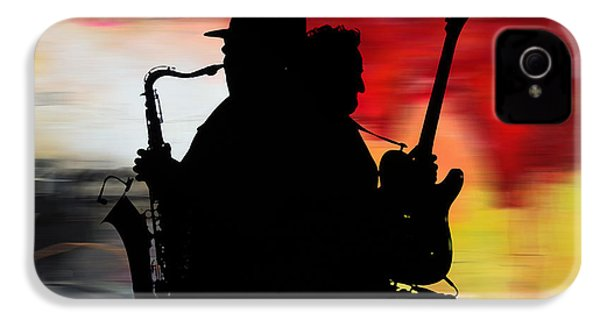 Bruce Springsteen Clarence Clemons IPhone 4 Case by Marvin Blaine