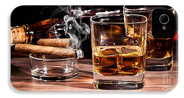 Cigar And Alcohol Collection IPhone 4 Case by Marvin Blaine