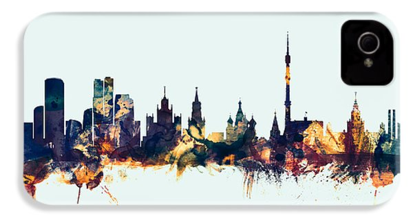 Moscow Russia Skyline IPhone 4 Case by Michael Tompsett