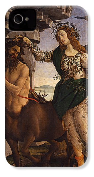 Pallas And The Centaur IPhone 4 Case by Sandro Botticelli