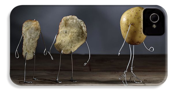 Simple Things - Potatoes IPhone 4 Case by Nailia Schwarz