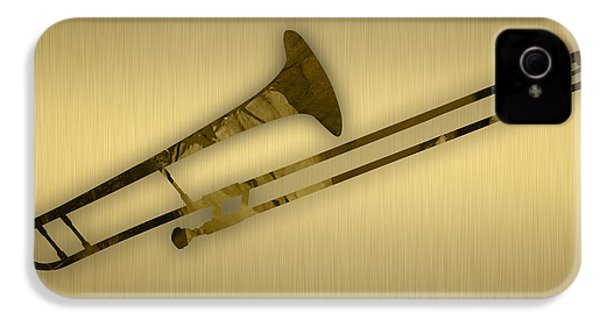 Trombone Collection IPhone 4 Case by Marvin Blaine