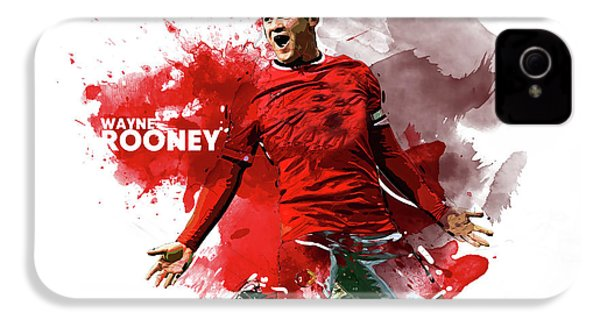 Wayne Rooney IPhone 4 / 4s Case by Semih Yurdabak