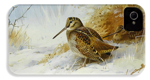 Winter Woodcock IPhone 4 / 4s Case by Archibald Thorburn
