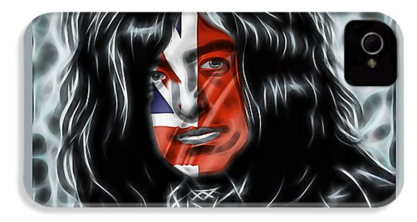 Jimmy Page Collection IPhone 4 Case by Marvin Blaine