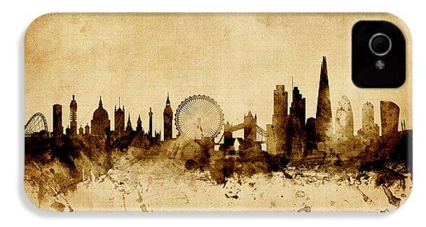 London England Skyline IPhone 4 / 4s Case by Michael Tompsett