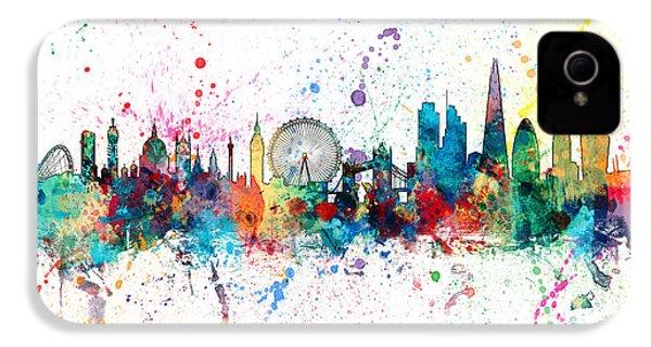 London England Skyline IPhone 4 Case by Michael Tompsett