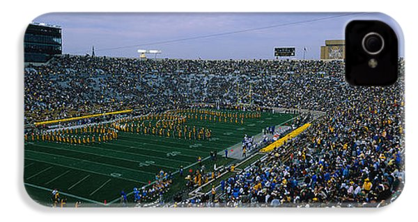 High Angle View Of A Football Stadium IPhone 4 Case by Panoramic Images