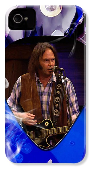 Neil Young Art IPhone 4 Case by Marvin Blaine