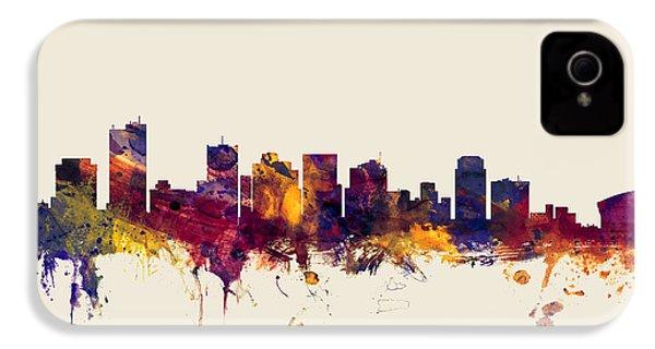 Phoenix Arizona Skyline IPhone 4 / 4s Case by Michael Tompsett