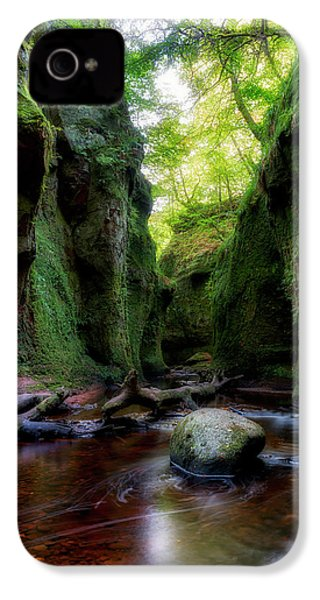 The Devil Pulpit At Finnich Glen IPhone 4 Case by Jeremy Lavender Photography