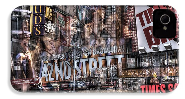 IPhone 4 Case featuring the photograph 42nd Street Times Square 2 by Dave Beckerman