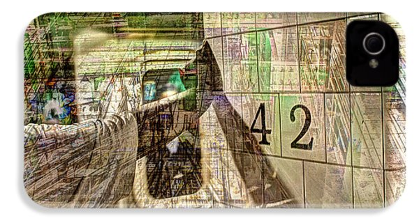 42nd Subway Collage IPhone 4 Case by Dave Beckerman