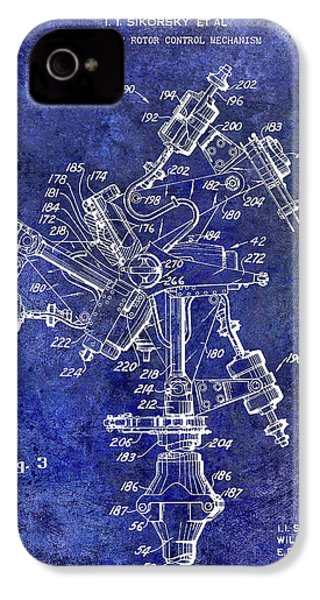 1950 Helicopter Patent IPhone 4 Case by Jon Neidert