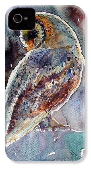 Barn Owl IPhone 4 / 4s Case by Kovacs Anna Brigitta