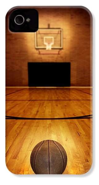 Basketball And Basketball Court IPhone 4 Case by Lane Erickson