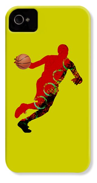 Basketball Collection IPhone 4 Case by Marvin Blaine