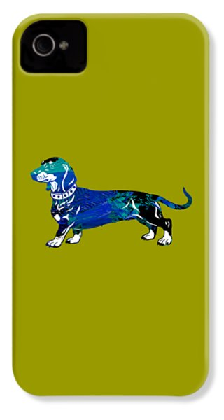 Dachshund Collection IPhone 4 Case by Marvin Blaine