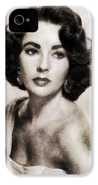 Elizabeth Taylor, Vintage Hollywood Legend IPhone 4 Case by John Springfield