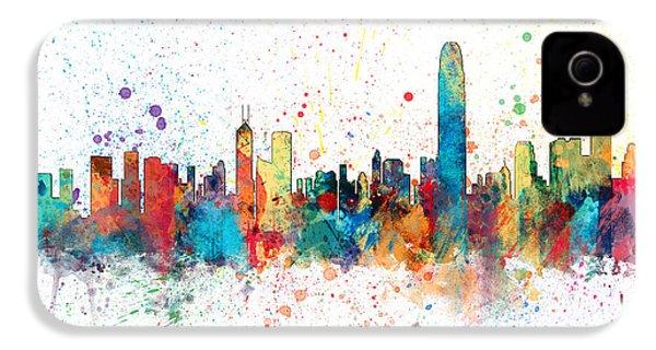 Hong Kong Skyline IPhone 4 Case by Michael Tompsett