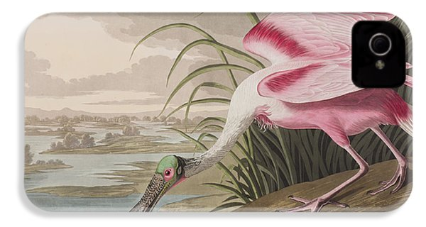 Roseate Spoonbill IPhone 4 Case by John James Audubon