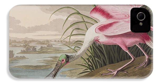Roseate Spoonbill IPhone 4 Case by John James Audubon