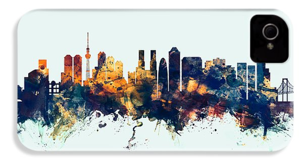 Tokyo Japan Skyline IPhone 4 Case by Michael Tompsett