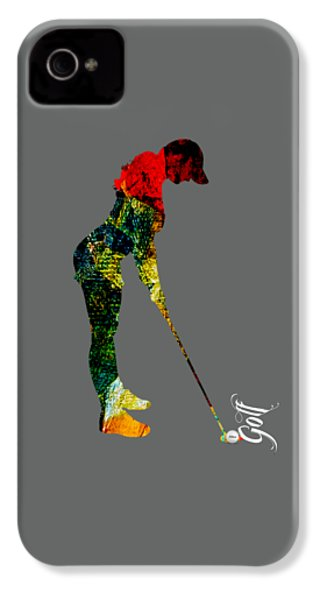 Womens Golf Collection IPhone 4 Case by Marvin Blaine