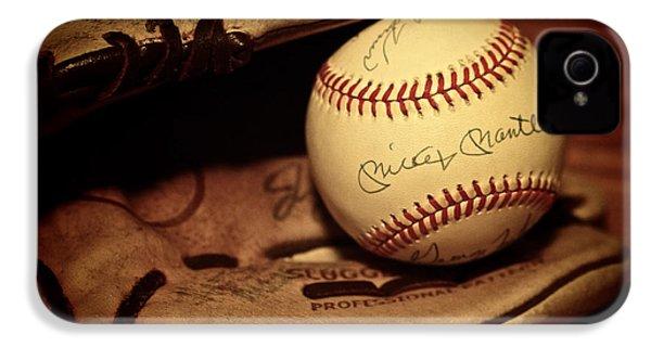 50 Home Run Baseball IPhone 4 Case by Mark Miller