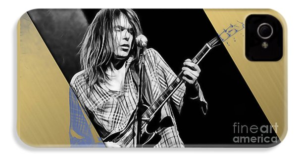 Neil Young Collection IPhone 4 Case by Marvin Blaine