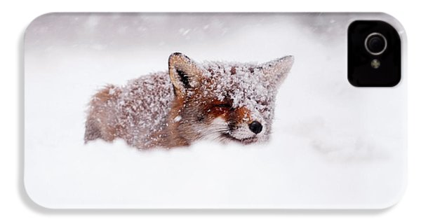 50 Shades Of White And A Touch Of Red IPhone 4 / 4s Case by Roeselien Raimond