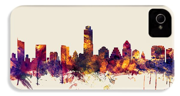 Austin Texas Skyline IPhone 4 / 4s Case by Michael Tompsett