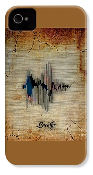 Breathe Spoken Soundwave IPhone 4 / 4s Case by Marvin Blaine