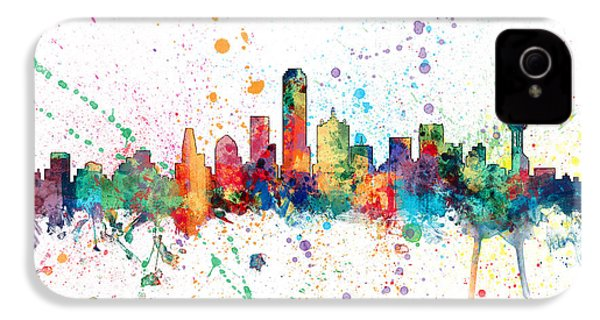Dallas Texas Skyline IPhone 4 Case by Michael Tompsett