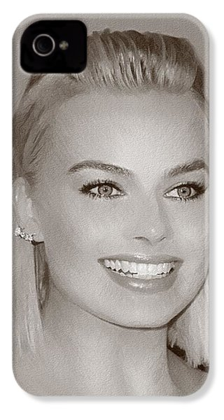 Hollywood Star Margot Robbie IPhone 4 Case by Best Actors
