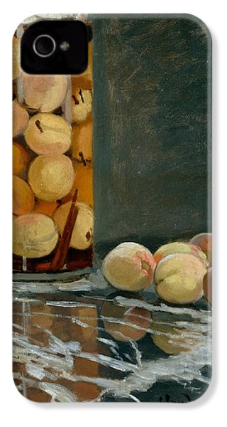 Jar Of Peaches IPhone 4 / 4s Case by Claude Monet
