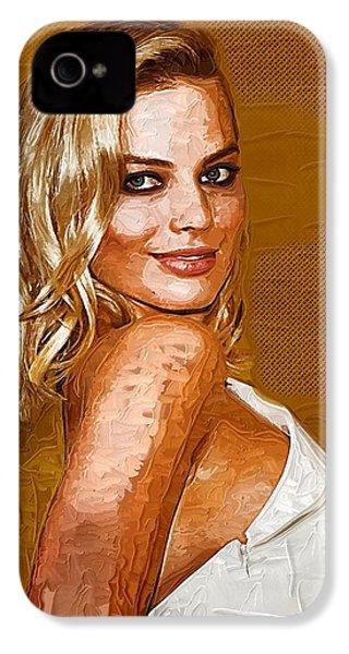 Margot Robbie Art IPhone 4 Case