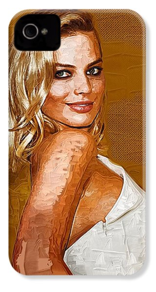 Margot Robbie Art IPhone 4 / 4s Case by Best Actors