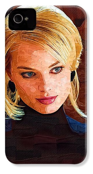 Margot Robbie Painting IPhone 4 Case by Best Actors