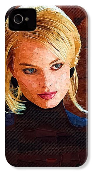 Margot Robbie Painting IPhone 4 / 4s Case by Best Actors