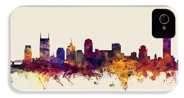 Nashville Tennessee Skyline IPhone 4 / 4s Case by Michael Tompsett