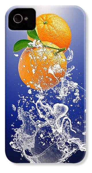 Orange Splash IPhone 4 Case by Marvin Blaine
