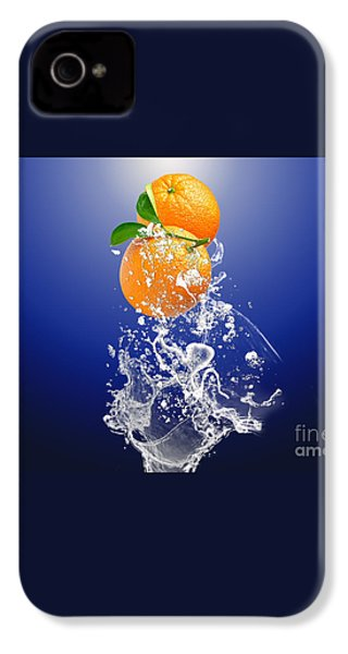 IPhone 4 Case featuring the mixed media Orange Splash by Marvin Blaine