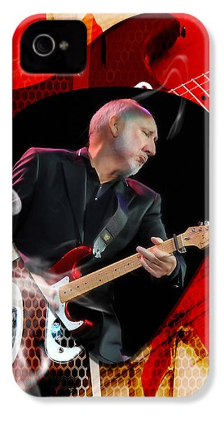 Pete Townshend Art IPhone 4 Case by Marvin Blaine