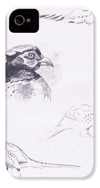 Pheasants IPhone 4 Case by Archibald Thorburn