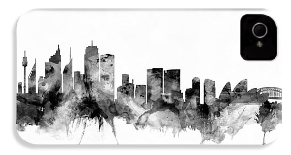 Sydney Australia Skyline IPhone 4 / 4s Case by Michael Tompsett
