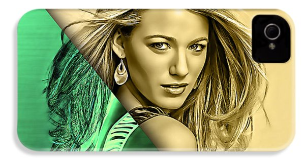 Blake Lively Collection IPhone 4 Case by Marvin Blaine