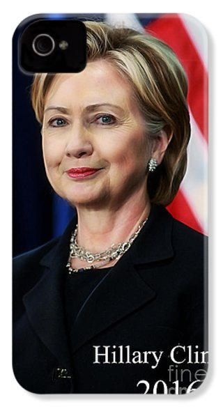 Hillary Clinton 2016 Collection IPhone 4 / 4s Case by Marvin Blaine