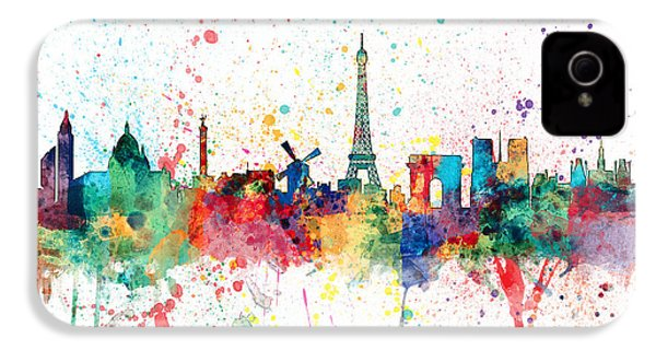 Paris France Skyline IPhone 4 Case by Michael Tompsett